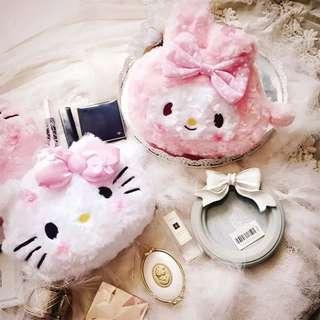 🚚 Kitty美樂蒂化妝包收納包三麗鷗存摺包