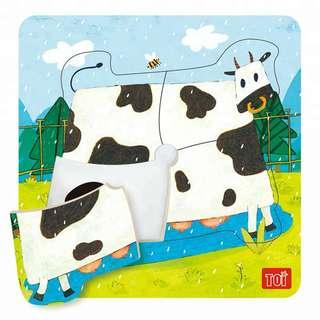 TOI Wooden Puzzle Educational Toy Cow Puzzle