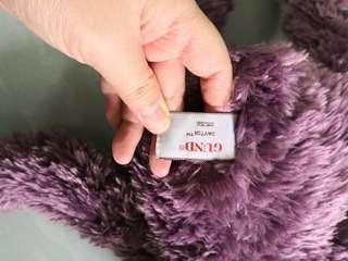 紫色軟棉棉熊仔