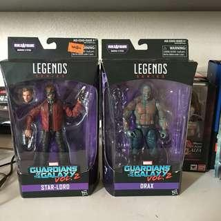 Marvel Legends guardians of the galaxy star lord drax