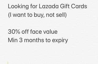 WTB Lazada Gift Card