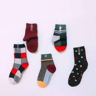 🚚 全新 韓國 造型 厚實 長襪 短襪