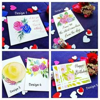 🚚 Watercolour Floral Greeting Cards
