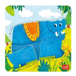 TOI Wooden Puzzle Educational Toy Elephant Puzzle