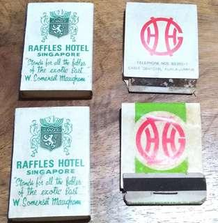 Raffles Hotel and genting highland match boxes