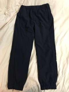 Navy warm -lined jogger pants