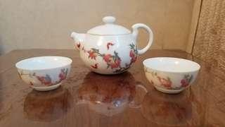 Xianglong Nonsuch hand drawn peach tree kung fu tea set