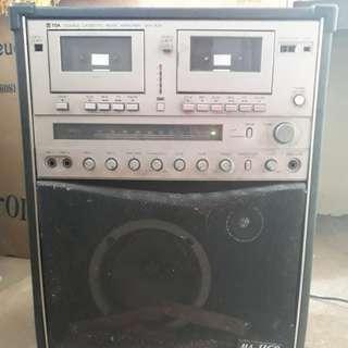 Vintage Double Cassette Music Amplifier