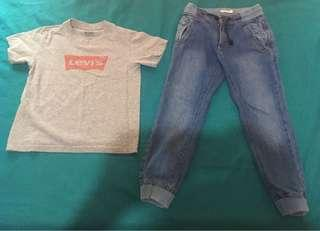 Jogger Pants and Levis T shirt (kids 4-5 yrs old)