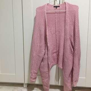 Brandy Melville Dyed Knit Cardigan in Pink