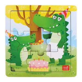 TOI Wooden Puzzle Educational Toy Crocodile Puzzle