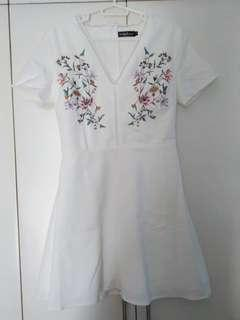 Something Borrowed embroidered dress + free SF
