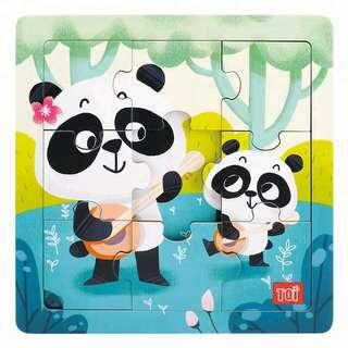 TOI Wooden Puzzle Educational Toy Panda Puzzle