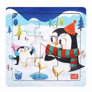 TOI Wooden Puzzle Educational Toy Penguin Puzzle