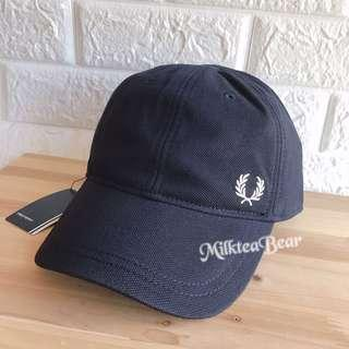 Fred Perry Navy 刺繡 logoCap 🇬🇧🇺🇸直送 (現貨) 100% real &new