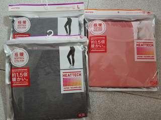 Uniqlo heattech woman extra warm L pants and M shirt