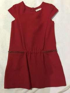 Zara red Christmas dress