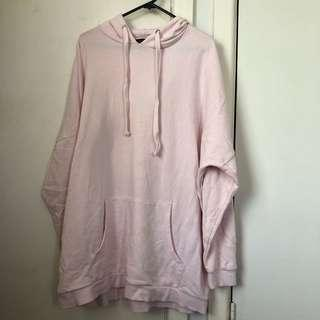 Glassons baby pink oversized hoodie