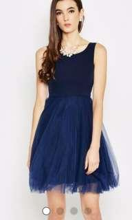 Love and Bravery Navy Blue Tulle Dress