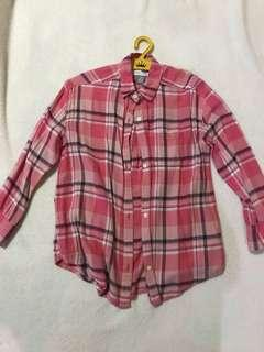 Old navy pink plaid long sleeves