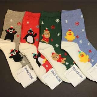 Christmas Socks - Animals Snow