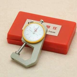 包郵 皮革工具 皮具制作 0-20mm 便攜式 平頭 測厚儀 測厚錶 厚度錶 測厚規 皮革