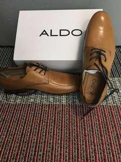 ALDO Mens McAllister Leather Dress Shoes in tan