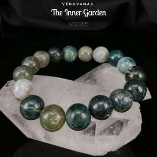 🚚 The Inner Garden Moss Agate Crystal Bracelet (12mm bead) - It represents the Inner garden within us to bring up our inner peace. A great tool to activate & heal our Heart Chakra.