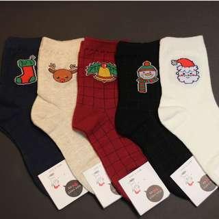 Christmas Socks - Grid Cartoons