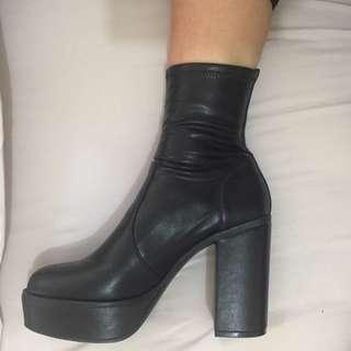 platform lipstick boots