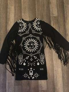 Zyra long sleeved dress wicca spritual