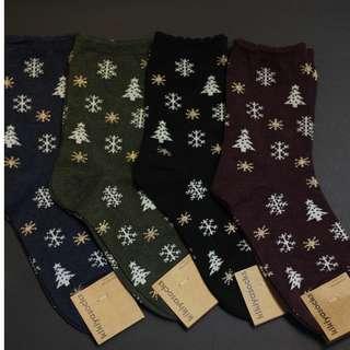 Christmas Socks - Snowflakes Pattern