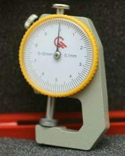 包郵 平頭 0-10mm 測厚儀 皮革工具 皮具制作 便攜式 平頭 測厚錶 厚度錶 測厚規 皮革
