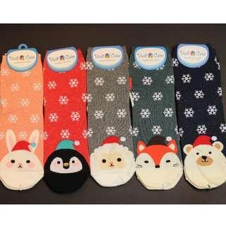 Christmas Socks - Cute Animal Snowflakes