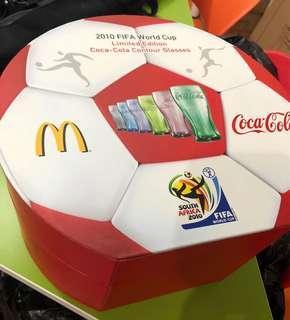 可口可樂 Coca Cola 2010世界盃紀念玻璃杯全套