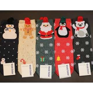 Christmas Socks - Cute Cartoon Snowflakes