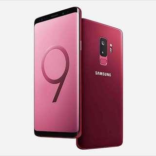 💟SAMSUNG S9 PLUS 128GB BURGUNDY RED