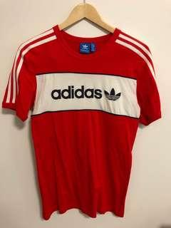 Adidas red men's tee size S