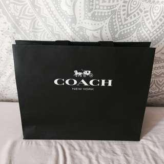 Coach Paper Bag Black #blackfriday100