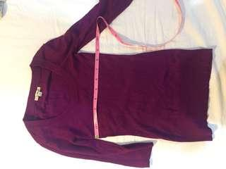 Purple knit top forever 21