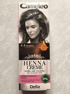 94dc8151891b3 Cameleo Henna Creme Herbal Hair Cream Coloring Cream 4.4 Spicy Brown Hair  Dye