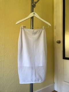 KOOKAI White Mesh Midi Skirt