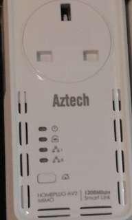Aztech 1200Mbps smart link homeplug