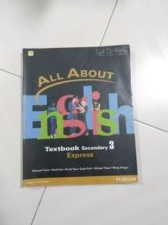 SUPER CHEAP All About English Textbook Secondary 3 Pearson