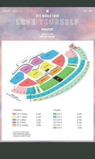 WTB BTS LoveYourself Ticket A Pair (Cat3 and Above)