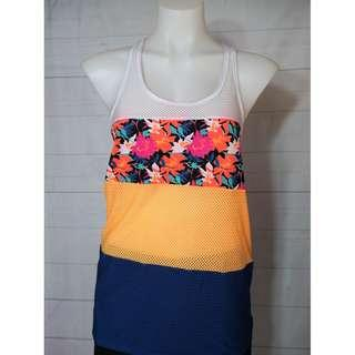 Lorna Jane Floral Breathable Tank Size M