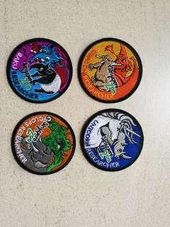 Singapore Zoo Limited Edition Dragons & Beasts Badges