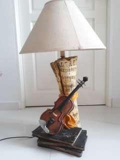 Ceramic Violin Table Lamp