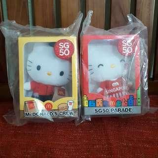 [ sealed ] hello kitty macdonalds SG50 edition plush