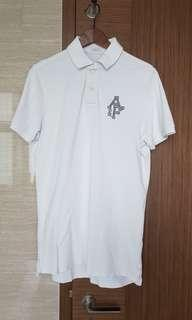 Abercrombie & fitch white polo tee